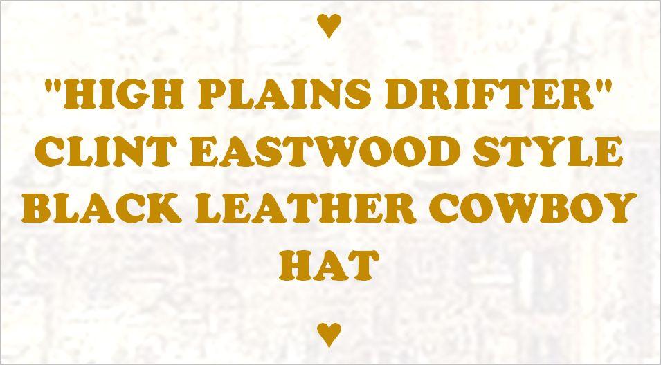 c637fa35789 eBlueJay  ♤ NEW HIGH PLAINS DRIFTER CLINT EASTWOOD LEATHER COWBOY ...
